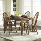 Solid Top Leg Table - Oak Product Image
