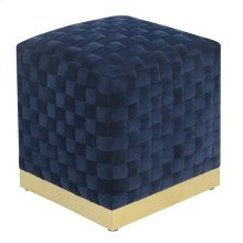 Emerald Home U1108-03sq-04 Jamison Square Ottoman, Navy