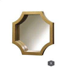 MADISON MIRROR- GOLD  Gold Finish on Wood Frame  Plain Glass Beveled Mirror