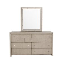 Sutton Place 9 Drawer Dresser in Grey Oak