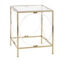 Rouvin Acrylic Glass Accent Table