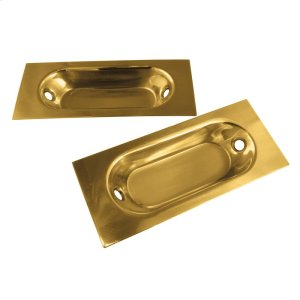 Builders Hardware Polished Brass Long Flush Cabinet Pull Product Image
