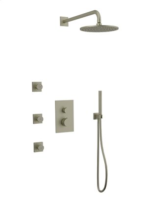 Rain Head + Body Jets + Hand Held Shower R+S - Brushed Nickel Product Image