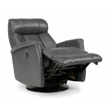 Hart Leather King Power Swivel Gliding Recliner