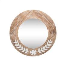 Leaf Flower Metal Wood Mirror