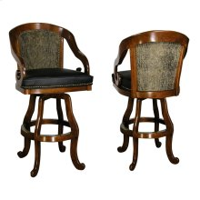 Bar & Counter Swivel Stool - Shown with Nailheads