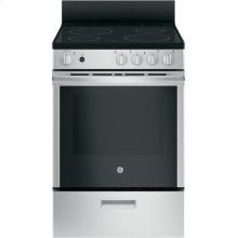 "GE® 24"" Free-Standing/Slide-in Front Control Range with Steam Clean and Large Window"