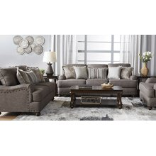 HUGHES 17200SLSCT Phineas Driftwood Sofa, Loveseat, Chair & Set Of Three Tables