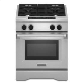 30-Inch 4-Burner Dual Fuel Freestanding Range, Commercial Style - Stainless Steel