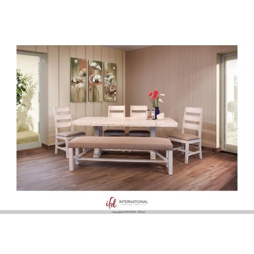 Wooden Table top & base - White finish*