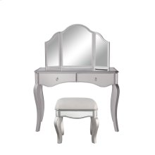 Vanity Table 42 in. x 18 in. x 31 in. and Mirror 37 in. x 24 in. and Chair 18 in. x 14 in. x 18 in.""""""