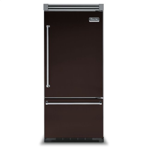 "Chocolate 36"" Bottom-Mount Refrigerator/Freezer - VIBB (Right Door Hinge)"