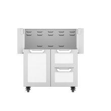 """30"""" Hestan Outdoor Tower Cart with Door/Drawer Combo - GCR Series - Froth"""