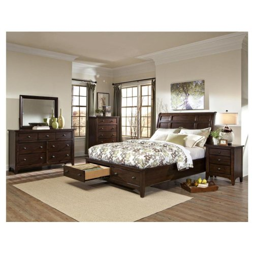Intercon Bedroom Jackson Sleigh King Bed-Storage Footboard