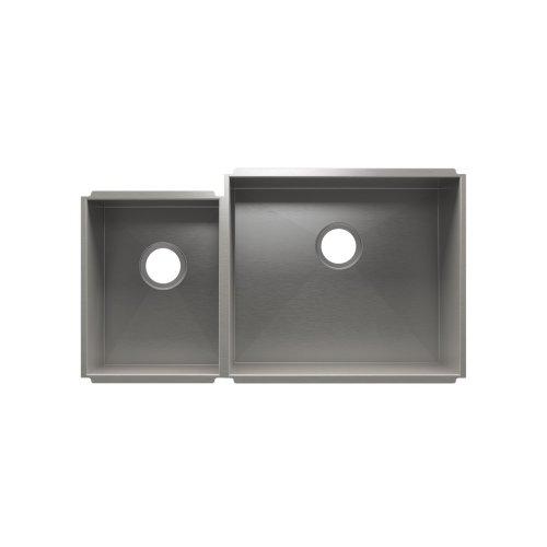 """UrbanEdge® 003644 - undermount stainless steel Kitchen sink , 12"""" × 16"""" × 8""""  21"""" × 18"""" × 10"""""""