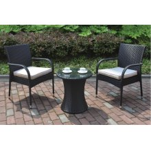 106 / Liz.p3- 3PC OUTDOOR BISTRO SET [P50261(1)+P50161(2)]