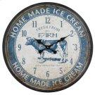 Ice Cream Farm Blue Wall Clock Product Image