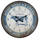 Ice Cream Farm Blue Wall Clock Product Image