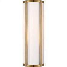 Visual Comfort AH2023NB-WG Alexa Hampton Basil 1 Light 6 inch Natural Brass Bath Wall Light