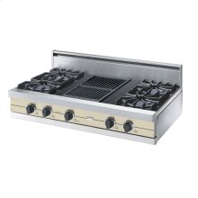 "Biscuit 42"" Open Burner Rangetop - VGRT (42"" wide, four burners 12"" wide char-grill)"