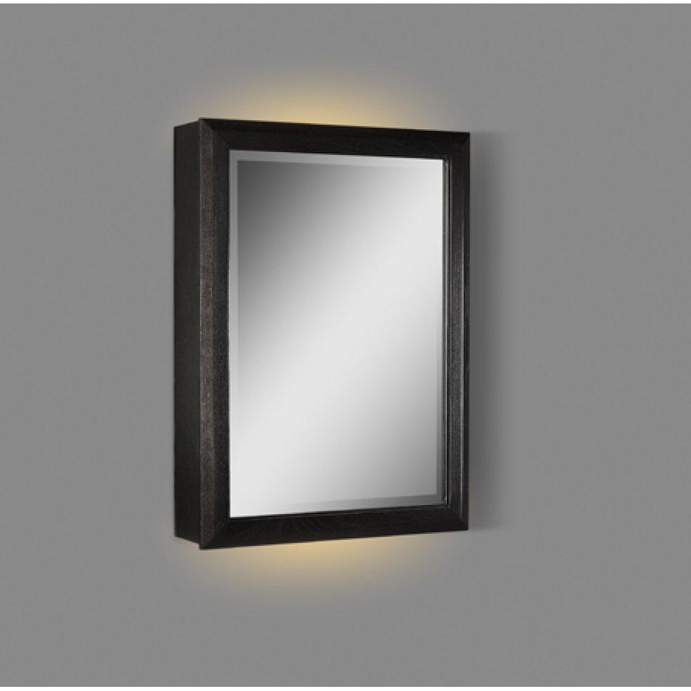 """Charlottesville 20"""" LED Medicine Cabinet - right - Vintage Black"""