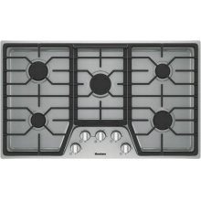 "36"" gas cooktop, 5 burner"