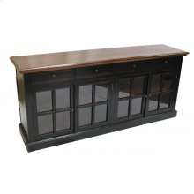 Black Sideboard 4 Glass Doors