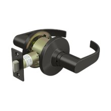 Comm, Passage Standard Grade 2, Curved Lever - Oil-rubbed Bronze