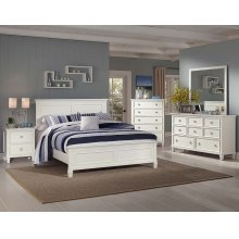 Tamarack White King Bed