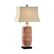 Embroidered Bottle Lamp - Red