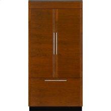 "Integrated Built-In French Door Refrigerator, 42"", Custom Overlay"