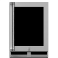 "24"" Hestan Undercounter Dual Zone Refrigerator with Wine Storage (UV-Coated Glass Door) - GRWG Series"