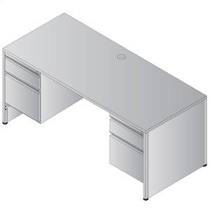 Metal Desk Double Pedestal 66x30