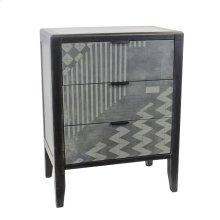 3 Drawer Cabinet, Black