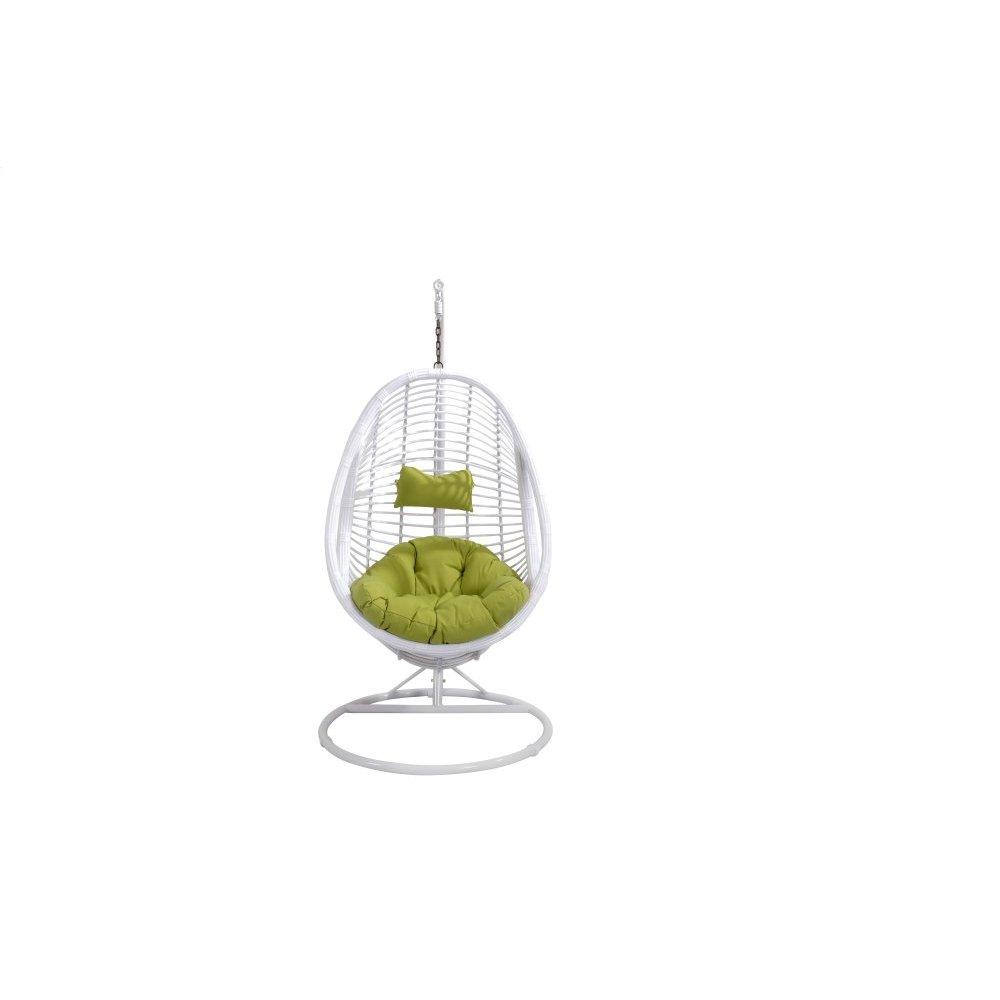 Emerald Home Catalina Hanging Basket Green W/white Wicker Frame Ou1061-09-08-k