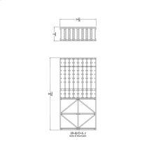 Apex 6' Mahogany Wine Rack Kit (IB-B/D-6.1) - READY TO SHIP