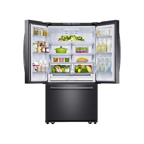26 cu. ft. French Door Refrigerator with Filtered Ice Maker in Black Stainless Steel