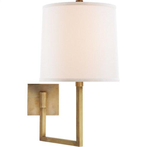 Visual Comfort BBL2029SB-L Barbara Barry Aspect 14 inch 100 watt Soft Brass Swing-Arm Wall Light