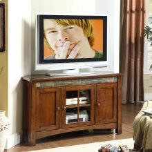 Craftsman Home - Corner TV Console - Americana Oak Finish
