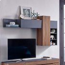 Scope Wall Mounted Shelves in Walnut Gray Product Image