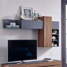 Scope Wall Mounted Shelves in Walnut Gray