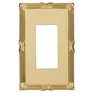 Ribbon & Reed Wall Plate - Polished Brass Product Image