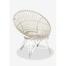St Lucia outdoor round chair - white/taupe..(39.75x30.75x40.5)