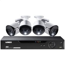 8-Channel 4K Ultra HD Security System with 4 Active Deterrence 4K Cameras