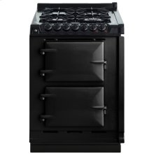 """AGA Module 24"""" Electric/Natural Gas Black with Stainless Steel trim"""