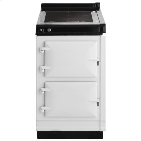 """AGA Hotcupboard 20"""" Induction White with Stainless Steel trim"""