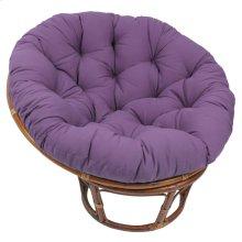 Bali 42-inch Indoor Fabric Rattan Papasan Chair - Walnut/Grape