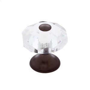 Old World Bronze 28 mm 8-Sided Crystal Knob Product Image