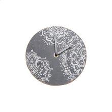 Henna Print Tabletop Clock