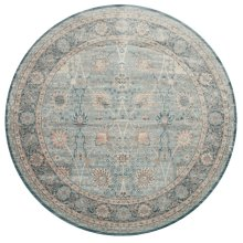 "Ella Rose Light Blue Rug - 7'-7"" X 7'-7"" Round"